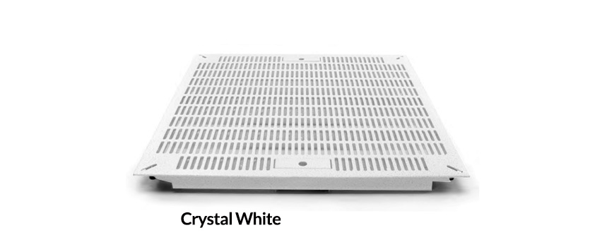 Crystal White Slotted Tile