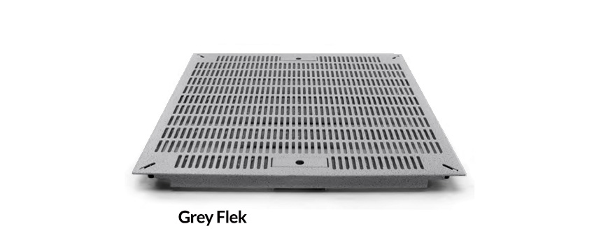 Grey Flek Slotted Tile